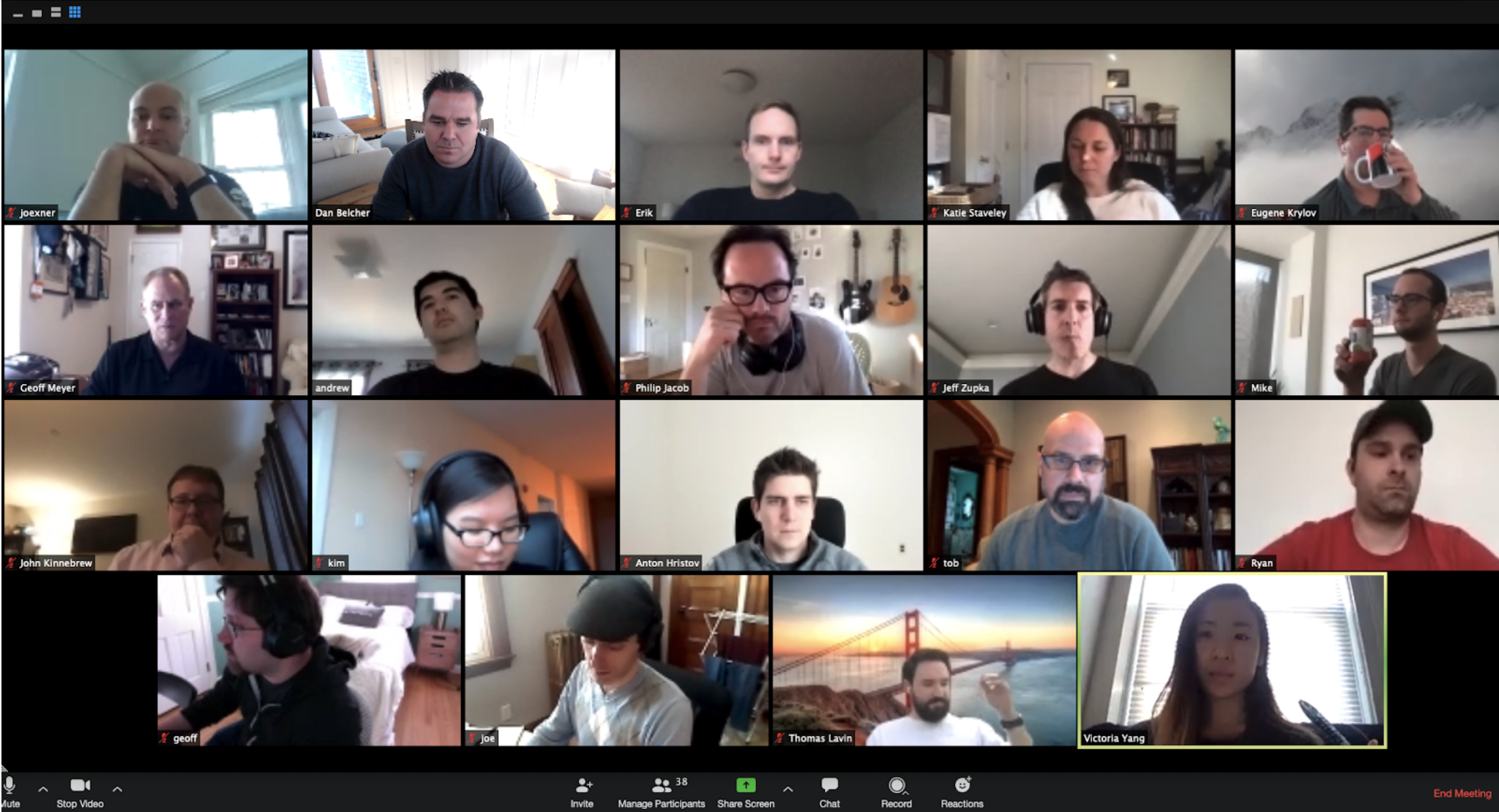 Demo TimeA Zoom meeting showing 19 participants.