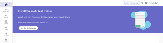 Desktop App install