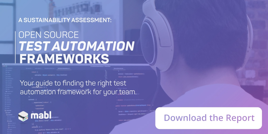 Open Source Test Automation Frameworks Sustainability Report
