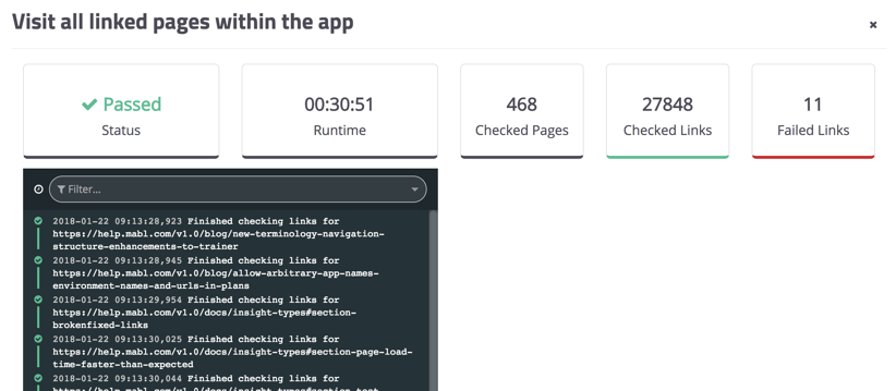 """A screenshot showing how to click on """"View Output"""" to see the overall status of your website Journey as of the first test run."""
