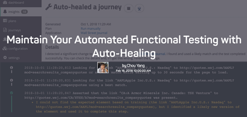 autoHealingTests