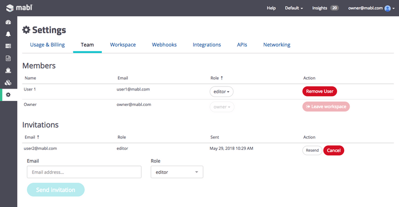 adding teams to your mabl workspace