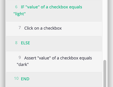 A screenshot showing how to create a simple conditional to check the state and reset it if it is not in the desired state.