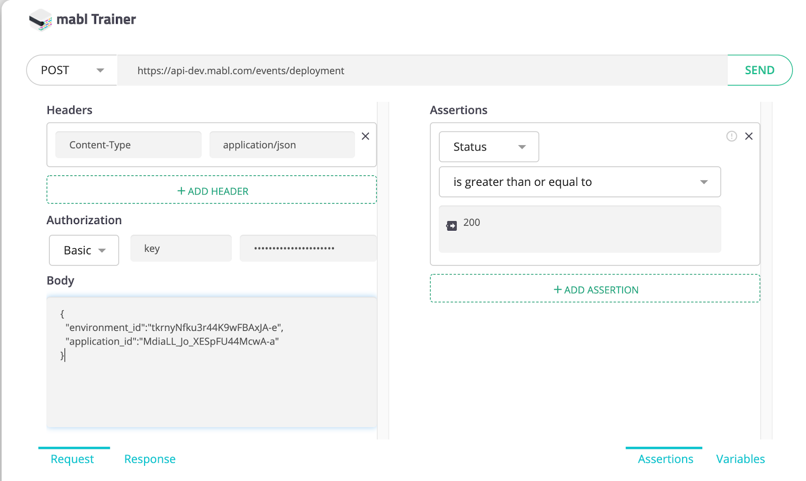 A screenshot showing that mabl's API testing features will help you learn about APIs without getting bogged down.
