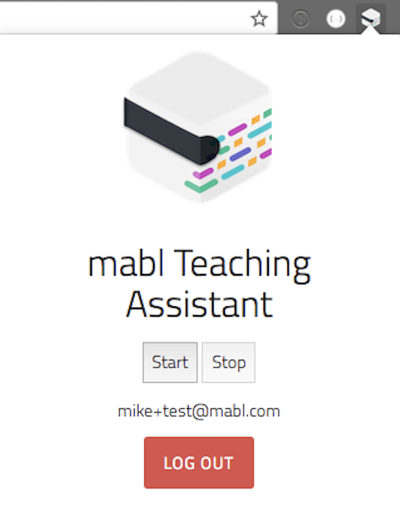 A screenshot of the first version of the mabl Trainer.