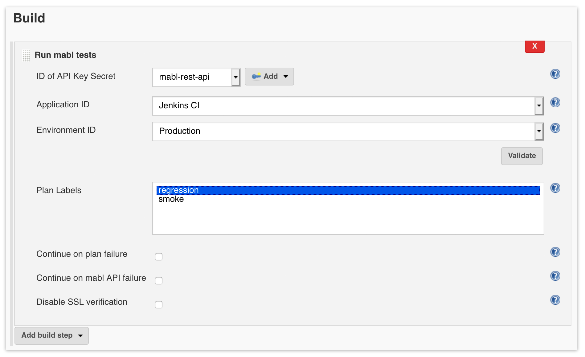 A screenshot showing that mabl and Jenkins accelerate development by allowing you to view mabl test results in Jenkin.