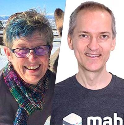 Picture of Lisa Crispin and Bertold Kolics