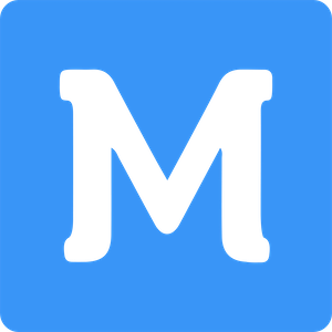 A capital M on a blue background, which is the logo for MaestroQA.