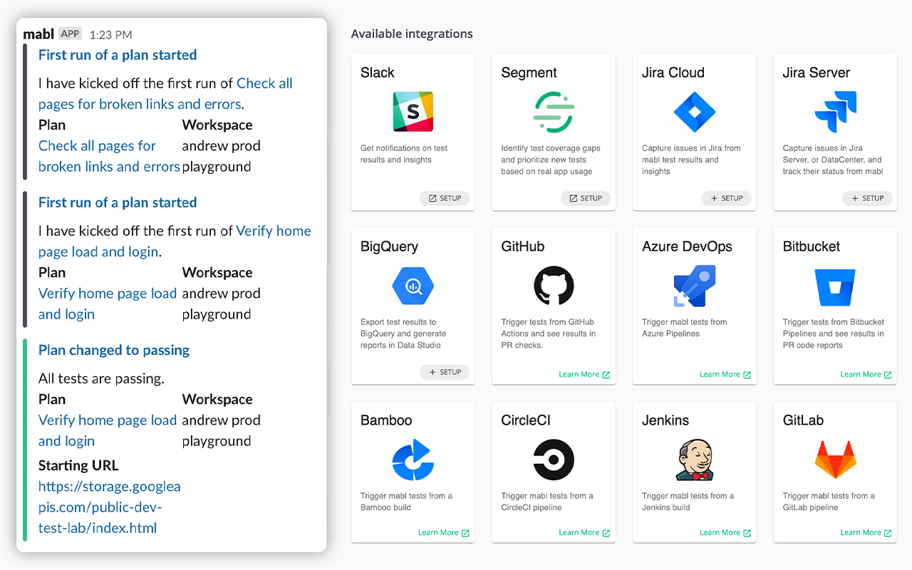 Platform Integrations Settings