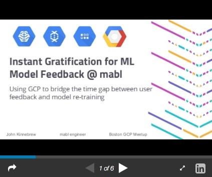 Instant Gratification for ML Model Feedback in GCP