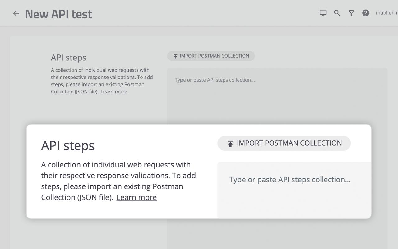 feature tab api postman